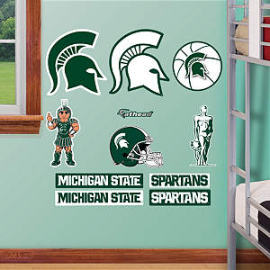 Michigan State Spartans - Team Logo Assortment Fathead Wall Decal
